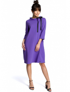 B070 Oversized dress with a tie tape detail